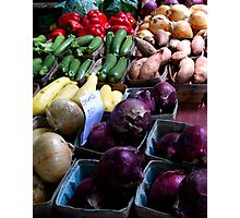 Organic Vegetables Photographic Print