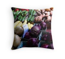Organic Vegetables Throw Pillow