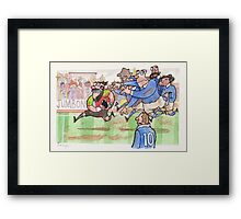 Coot Rugby Framed Print