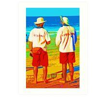 Manly Beach Life Guards Art Print