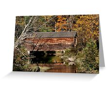 Hyde Hall Covered Bridge Greeting Card
