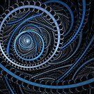 Blue Circular by Sandy Keeton