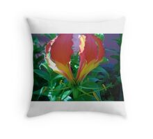 flame lily Throw Pillow