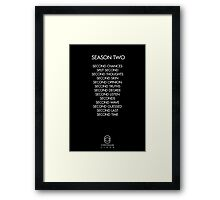 Continuum - Season Two Episodes Framed Print