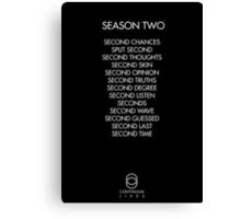 Continuum - Season Two Episodes Canvas Print