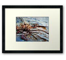 Tidal waves on rocks.......... Framed Print
