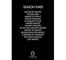Continuum - Season Three Episodes Photographic Print