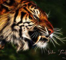C.E. Saber Tooth Tiger Fractal Art by galet09