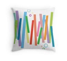 Happy Straws Throw Pillow