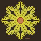 Paper Flower T-shirt by Mystikka