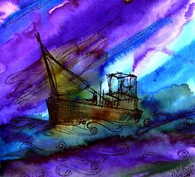 The Storm at Sea by Rashmita B-C