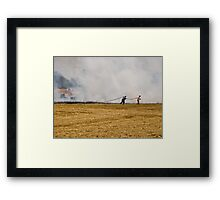 Quelling Flames Framed Print