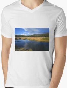 Tranquil Yellowstone Mens V-Neck T-Shirt