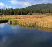 Tranquil Yellowstone Sticker