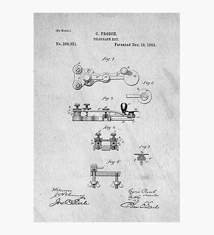 Telegraph Key Patent Art Photographic Print