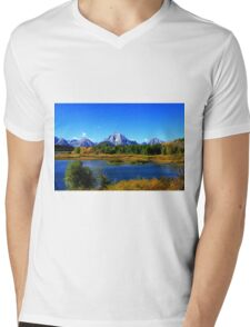 Mount Moran - Grand Tetons National Park - Wyoming Mens V-Neck T-Shirt