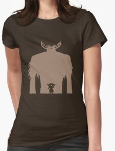 A Big Friend Of Mine - Light Brown Womens Fitted T-Shirt