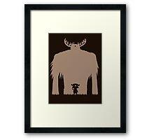 A Big Friend Of Mine - Light Brown Framed Print