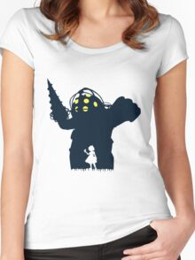 Where Is Daddy? Women's Fitted Scoop T-Shirt