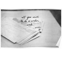 Wish to be a Writer Poster