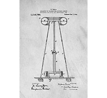 Tesla Patent Art Photographic Print