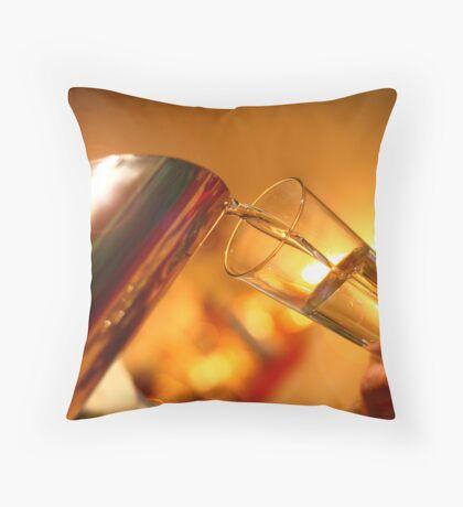 Water pour Throw Pillow