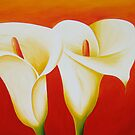Arum Lilys by Jane Whittred