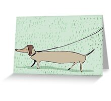 Walk the dog Greeting Card