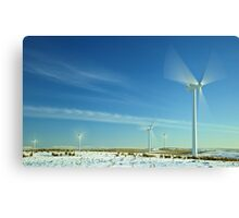 Wind Turbines in Motion Canvas Print