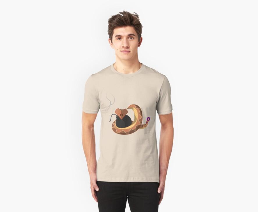 Evil Snake T-shirt by StudioColrouphobia