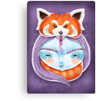 Huriyah & Red Panda Canvas Print