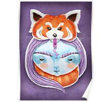 Huriyah & Red Panda Poster