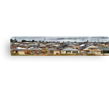 """Little boxes on the hillside, little boxes made of ticky tacky"" Canvas Print"