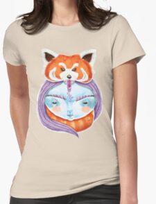 Huriyah & Red Panda Womens Fitted T-Shirt