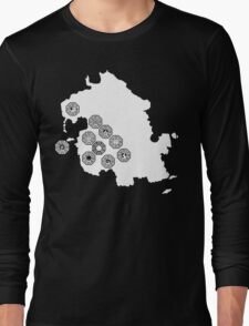 DHARMA Station Map Long Sleeve T-Shirt
