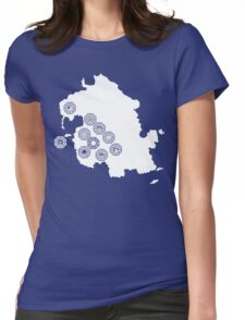 DHARMA Station Map Womens Fitted T-Shirt