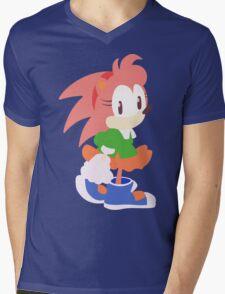 Amy Rose The Hedgehog Mens V-Neck T-Shirt