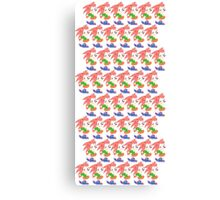 Amy Rose The Hedgehog Repeating Canvas Print