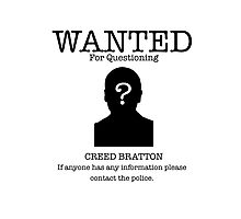 Wanted Creed Bratton (the Office US) Photographic Print