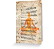 Yoga Book, The twelfth lesson, MANGO Greeting Card