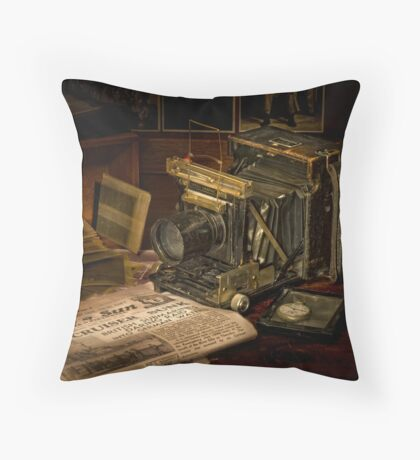 Portrait of a Camera Throw Pillow