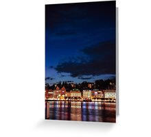 Lucerne by night Greeting Card