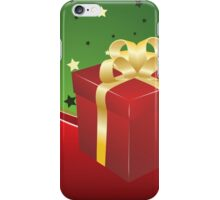 Red gift box with golden bow  iPhone Case/Skin