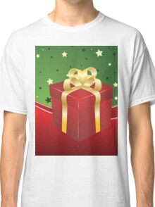 Red gift box with golden bow  Classic T-Shirt