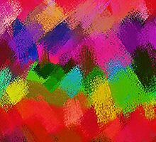 Colorful Paint Splatter Brush Stroke by Nhan Ngo