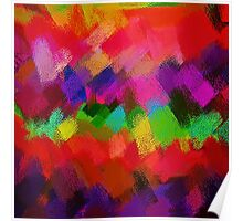Colorful Paint Splatter Brush Stroke Poster