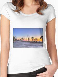 Sunrise on the Boardwalk_1 Women's Fitted Scoop T-Shirt