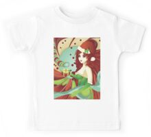 Santa girl in green corset Kids Tee