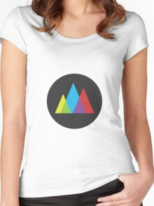 Triangles in Gray Women's Fitted Scoop T-Shirt