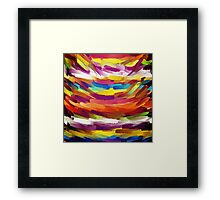 Vivid Color Paint Splatter Brush Stroke Framed Print